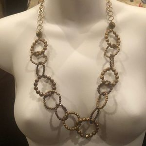 White House Black Market neutral link necklace